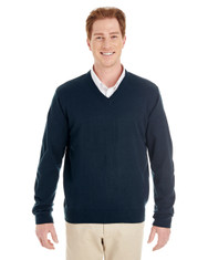 Dark Navy - M420 Harriton Men's Pilbloc™ V-Neck Sweater