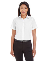 White - D620SW Devon & Jones Ladies' Crown Collection™ Solid Broadcloth Short Sleeve Shirt