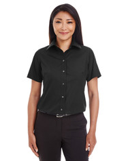 Black - D620SW Devon & Jones Ladies' Crown Collection™ Solid Broadcloth Short Sleeve Shirt