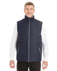 Navy/Graphite - FRONT - NE702Prime Ash City - North End Men's Engage Interactive Insulated Vest