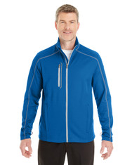 Navy Blue/Graphite/Plate - FRONT - NE703 Ash City - North End Men's Endeavor Interactive Performance Fleece Jacket