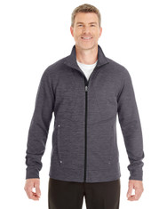 Carbon/Black - North End Men's Amplify Melange Fleece Jacket