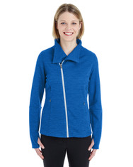 Blue - NE704W Ash City - North End Ladies' Amplify Melange Fleece Jacket | Blankclothing.ca