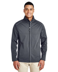 Carbon - CE708 Ash City - Core 365 Men's Techno Lite Three-Layer Knit Tech-Shell Jacket | Blankclothing.ca