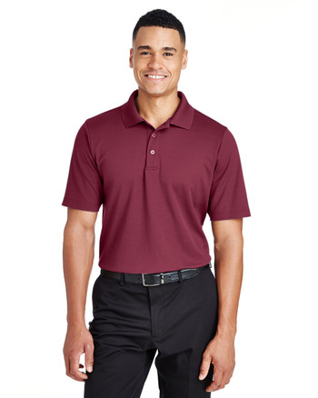 Burgundy - DG20 Devon & Jones Men's CrownLux Performance™ Plaited Polo | Blankclothing.ca