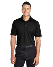 Black - DG20T Devon & Jones Men's Tall CrownLux Performance™ Plaited Polo