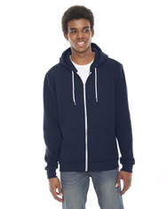 Navy - F497W American Apparel Unisex Flex Fleece Zip Hoodie | Blankclothing.ca