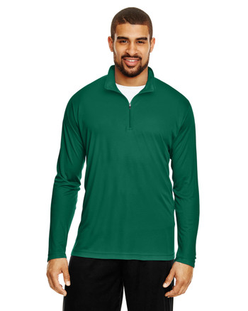 Forest Green - TT31 Team 365 Men's Zone Performance Quarter-Zip Shirt
