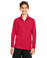 Sport Red - TT31Y Team 365 Youth Zone Performance Quarter-Zip Shirt