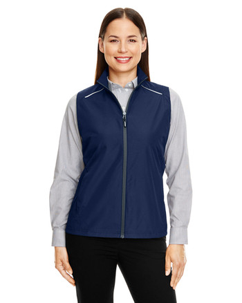 Classic Navy - CE703W Ash City - Core 365 Ladies' Techno Lite Unlined Vest | Blankclothing.ca