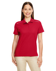 Classic Red - 78181R Ash City - Core 365 Ladies' Radiant Performance Piqué Polo Shirt with Reflective Piping | Blankclothing.ca