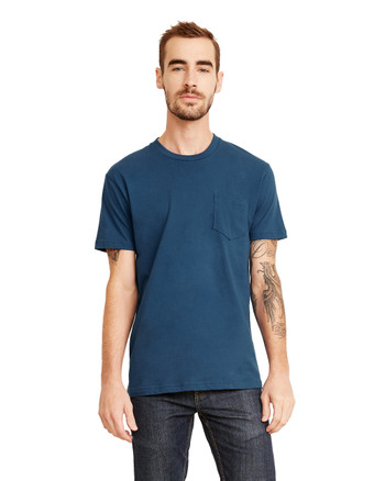 Cool Blue - 3605 Next Level Unisex Pocket Crew T-Shirt | Blankclothing.ca