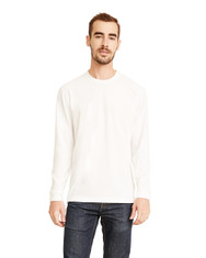 White - 6411 Next Level Unisex Sueded Long-Sleeve Crew