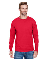 Athletic Red -  CP15 Champion Adult Long-Sleeve Ringspun T-Shirt | BlankClothing.ca
