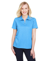 Ocean Blue Heather - DG22W Devon & Jones Ladies' CrownLux Performance™ Address Mélange Polo Shirt | BlankClothing.ca