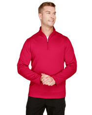 Red - M748 Harriton Men's Advantage Snag Protection Plus IL Quarter-Zip Active Shirt | BlankClothing.ca