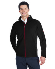 Black/Black/Red - 187330 Spyder Constant Full-Zip Sweater | BlankClothing.ca