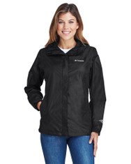 Black - 2436 Columbia Ladies' Arcadia™ II Waterproof Jacket  | BlankClothing.ca