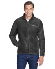 Charcoal Heather - 3220 Columbia Men's Steens Mountain™ Full-Zip Fleece | BlankClothing.ca