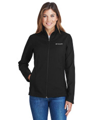 Black - 5343 Columbia Ladies' Kruser Ridge™ Soft Shell Water And Wind Resistant Jacket | BlankClothing.ca