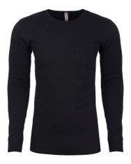 Black - N8201 Next Level Adult Long-Sleeve Thermal | BlankClothing.ca