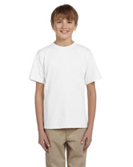White - G200B Youth Ultra Cotton 10.1 oz T-shirt