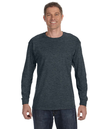 Black Heather 29L Jerzees Long Sleeve T-shirt