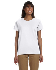 White - G200L Gildan Ultra Cotton Ladies' 10 oz T-Shirt | Blankclothing.ca