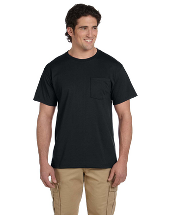 Black 29P Jerzees 50/50 Heavyweight Blend™ Pocket T-Shirt | Blankclothing.ca