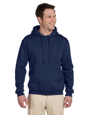J Navy 4997 Jerzees 50/50 Super Sweats® NuBlend® Fleece Pullover Hoodie | Blankclothing.ca