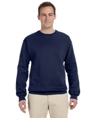J. Navy 82300 Fruit of the Loom Supercotton™ Fleece Crew | Blankclothing.ca