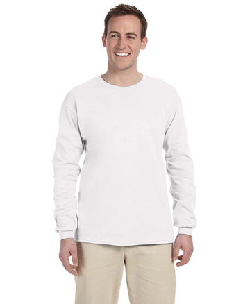 White 4930 Fruit of the Loom 100% Heavy Cotton HD® Long-Sleeve T-Shirt | Blankclothing.ca