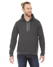 Dark Heather Grey - F498W American Apparel Unisex Fleece Pullover Hoodie | Blankclothing.ca