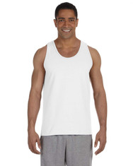 White G220 Gildan Ultra Cotton Tank Top | Blankclothing.ca