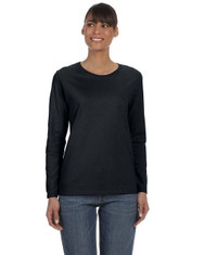 Black G540L Heavy Cotton Ladies' Missy Fit Long Sleeve T-Shirt