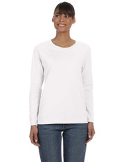 White G540L Heavy Cotton Ladies' Missy Fit Long Sleeve T-Shirt