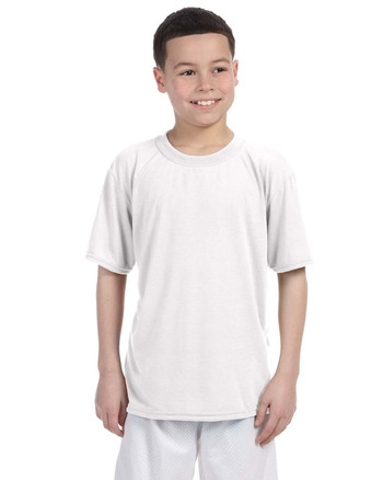 White G420B Gildan Athletic Performance Youth T-Shirt | Blankclothing.ca