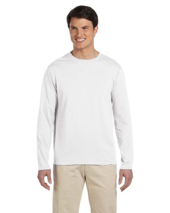 White G644 SoftStyle Long Sleeve T-Shirt | Blankclothing.ca