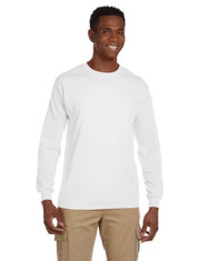 White G241 Ultra Cotton Long Sleeve Pocket T-Shirt