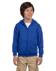Royal G186B Heavy Blend Youth 50/50 Full Zip Hoodie