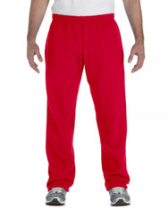 Red G184 Heavy Blend 50/50 Open Bottom Sweatpants