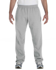 Sport Grey G184 Gildan Heavy Blend 50/50 Open Bottom Sweatpants | Blankclothing.ca