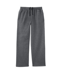 Charcoal Heather SF74R Softspun Open Bottom Pocket Sweatpants