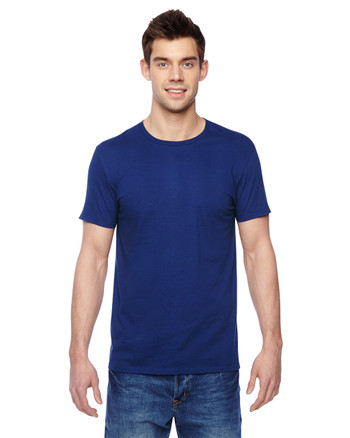 Admiral Blue SF45R Fruit of the Loom Softspun Cotton T-Shirt | Blankclothing.ca