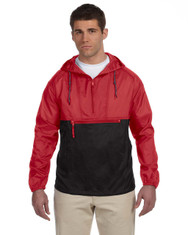Red/Black M750 Packable Nylon Jacket