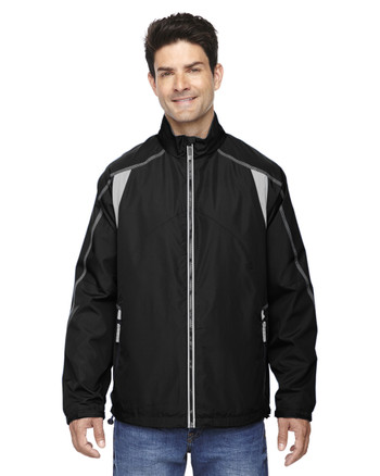 Black - 88155 North End Men's Lightweight Colour-Block Jacket | Blankclothing.ca