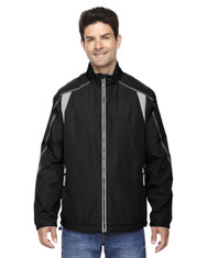 Black - 88155 North End Men's Lightweight Colour-Block Jacket