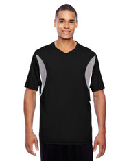 Black - TT10 Team 365 Athletic V-Neck All Sport Jersey T-Shirt