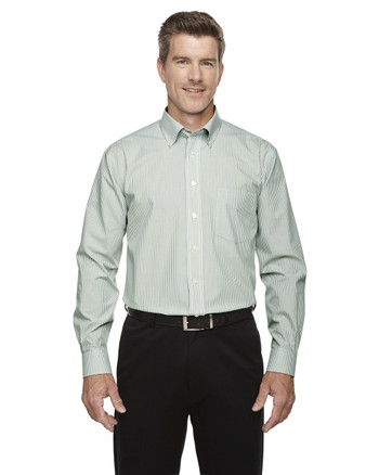Dill D645 Devon & Jones Crown Collection™ Banker Stripe | Blankclothing.ca