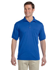 Royal G890 Gildan DryBlend® 50/50 Jersey Polo with Pocket